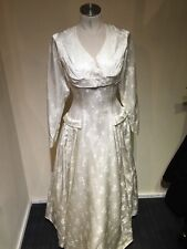 Ladies 1950's Vintage Satin Wedding Dress Size 8 10