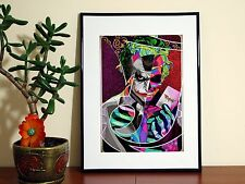 Batman The Joker Print Pattern Cartoon - A4 Glossy Poster - FREE Shipping