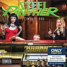 STEEL PANTHER Lower The Bar CD + 2 extra tracks  & Lenticular Cover BEST BUY .