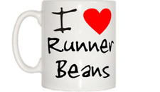 I Love Heart Runner Beans Mug