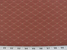 Drapery Upholstery Fabric Jacquard Diamond Design w/Small Dots - Tomato Red