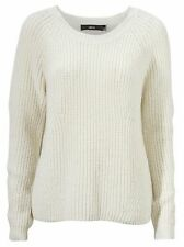 Women's UK Plus Size 8 - 26 Ivory or Black Cotton Wool Mix Jumpers Sweaters
