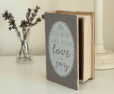 Book Box Storage for Keeping Small Photos, Trinkets, Keepsakes Love Book Box