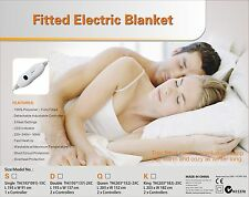 Digilex Double Size Washable Fitted Polyester Electric Blanket With Controllers