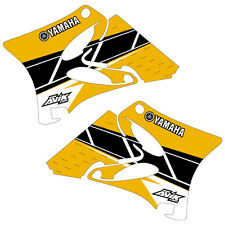 2002-2014 YZ125 YZ250 Yamaha Retro Shroud Graphics Retro Yellow