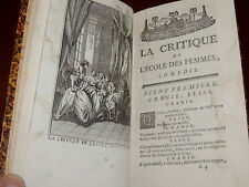 MOLIERE  OEUVRES ROUEN 1779 - L'impromptu de Versailles, Dom Juan... T.III