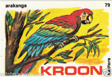 Ara rouge Ara macao - Scarlet Macaw MATCHBOX LABEL CARD IMAGE 1973