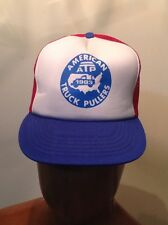 Vintage ATP American Truck Pulling League Snap Back Mesh Trucker Hat 1983 NOS