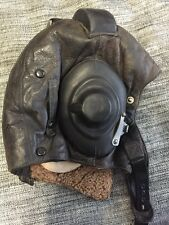 ORIGINAL VINTAGE RUSSIAN SOVIET CCCP LEATHER MIG PILOT FLYING HELMET