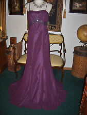 Purple Couture Collection Bill Pesce Pageant Formal Harlow Gown Dress Size 6 36""
