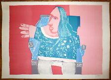 Quilici Louis Lithographie originale 1963 figuration narrative art