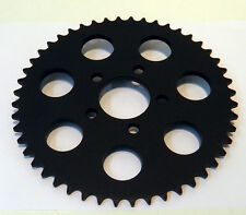 2000-2013 BLACK  REAR CHAIN SPROCKET HARLEY 530 CONVERSION 49 TOOTH DISHED 6MM