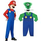 Mario and Luigi Costumes Kids Boys Super Mario Brothers Outfit Halloween Costume