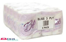 Bliss 3ply Luxury Triple Quilted Soft Toilet Tissue 40 Rolls 20m Per Roll 3 ply