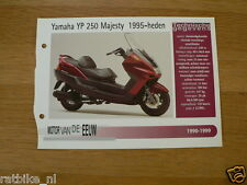 MVE96- YAMAHA YP250 MAJESTY 1995-HEDEN MINI POSTER AND INFO MOTORCYCLE,MOTORRAD