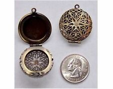 Perfume Locket Bronze locket 26mm Filigree Locket Scent solid perfume  469x