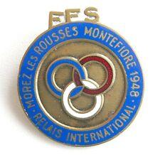 Médaille Broche - FFS - Morez les Rousses Montefiore 1948 - Relais international