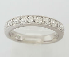 The LEO 0.48 ct 14K White Gold Round Leo Cut Diamond Band / Ring Channel 4 mm