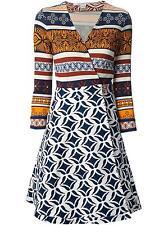 NEW NWT Diane von Furstenberg DVF Amelia Desert Bands Ikat Batik Wrap Dress US 0