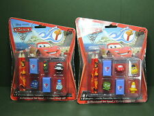 2 Blister 6 mini Figurine Figure Disney Pixar CARS Toppers Embout crayon FunBeeZ