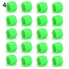 Green 20Pcs 19mm Silicone Car Wheel Nut Screw Cover Rims Bolt Caps Sightly