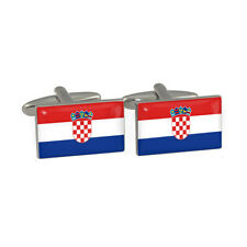 Croatian Flag Cufflinks croatia zagreb eu world cup hrvatska vatreni New & Boxed