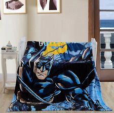 Super Hero Batman Flannel Blanket Throw Bedding Bedroom Rug Warm Blanket Cartoon