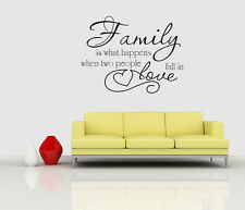 Wall stickers what Family & Love Quote Removable Art Vinyl Decor Home Kids decal
