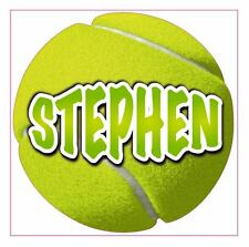 1 Any Name Tennis Ball Room/Wall/Car Vinyl Sticker/Decal 200mm