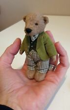 Reggie,  miniature dressed handmade artist teddy bear by Boyatt Wood Bears