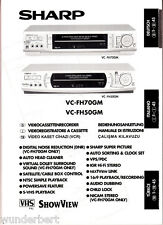 """manuale per Sharp VC-FH 70 GM/50 GM-Video Recorder"""