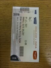 09/07/2014 Cricket Ticket: England v India [At Trent Bridge] Day 1. Trusted sell