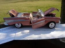 Franklin Mint 1/24th Scale 1957 Chevrolet Bel Air-VERY NICE-