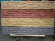 Bespoke Coloured Reinforced RockFace, Plain Gravel Boards & Posts Made to order