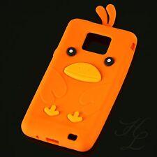 Samsung Galaxy S2 i9100 Silikon Case Schutz Hülle Etui Cover Chicken Orange