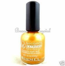 HTF Rimmel 60 Seconds Extreme Nail Polish- VA VA VOOM #835 Orange Gold Frost