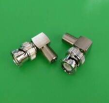 (10 PCS) Right Angle BNC Male to F Female Connector - USA Seller