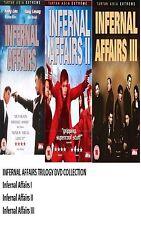 INFERNAL AFFAIRS TRILOGY DVD TRIPLE PACK SET PART 1 2 3 BOX Brand New UK Release
