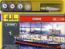 Heller Pamir Viermastbark Viermaster + Farbe Pinsel Kleber Modell-Bausatz 1:750