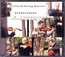 JUILLIARD STRING QUARTET: MENDELSSOHN Streichquartett No.1 & 2 CD Quartett SONY