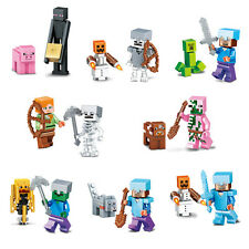 Minecraft toys Action Figures 8pcs/set Plastic Building blocks W/O original box
