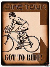 BIKE racing metal sign training pro tour MANCAVE boys room vintage style wall de
