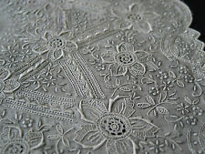 Vintage Finely Hand Embroidered Handkerchief Needle Lace Filling Stitches