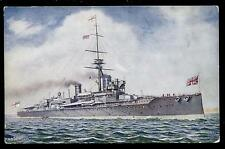 Royal Navy H.M.S.. Hercules Dreadnought Battleship PPC Tuck Oilette #8642