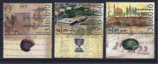 ISRAEL 1995 3 STAMPS BIBLE JERUSALEM CITY OF DAVID 3000  KNESSET ANCIENT MAP