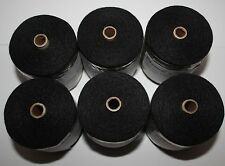 Hair Extension Weaving Thread Black -6 Rolls of 1000mtr.