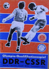 Programm DDR - CSSR 1976 Olympiaqualifikation