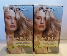 2X L'Oreal Paris Feria Multi-Faceted Shimmering Colour #82 Medium Ash Blonde