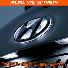 LED Emblem Set Front / Rear Set For 2012-2014 Hyundai Logo Santa Fe