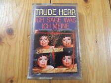 Trude Herr - Ich Sage Was Ich Meine / MC EMI 1987 (266 24 0729 4) RAR! OVP